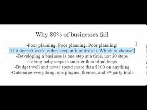 Why 80% of businesses fail